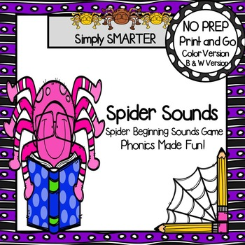 Spider Sounds:  NO PREP Beginning Sounds Game