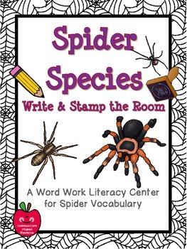 Spider Species Write / Stamp the Room Activity Pack