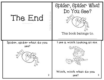 Spider, Spider What Do You See? Halloween Emergent Reader Mini-Book