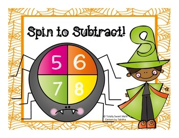 Spider Spin Subtraction- Subtraction Spinner Center!