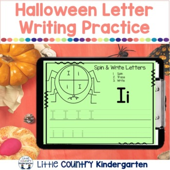 Spider Spin, Trace, Write Literacy Center: Uppercase Lower