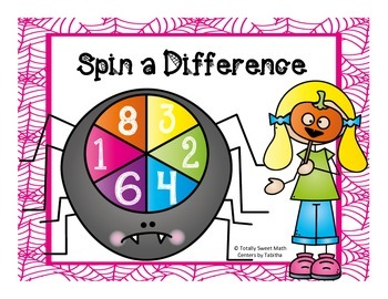 Spider Spin a Difference- Differences to 100 Spinner Center!