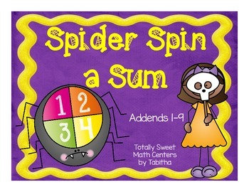 Spider Spin a Sum- Addition to 20 Spinner Center!