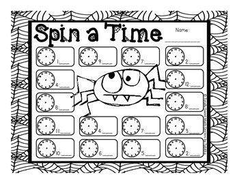 Spider Spin a Time- Time to the Quarter Hour Spinner Center!