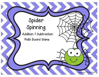 Spider Spinning:  An Addition and Subtraction Board Game