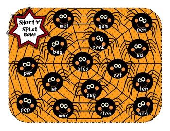 Spider Splat - {Short Vowel Recognition}