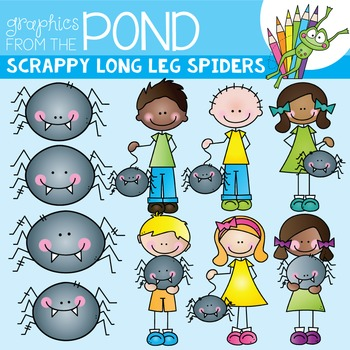 Spider Stick Kids Clipart