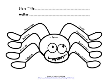 Spider Story Elements Map