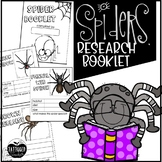 Spider Types Writing and Research Booklet