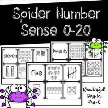 Spider Subitizing 0-20