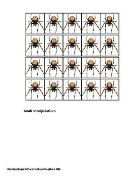 Halloween Math Center-Spider Subtraction