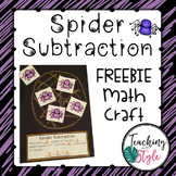 Spider Subtraction Math Craftivity FREEBIE