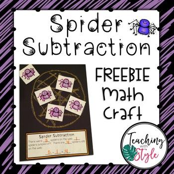 Spider Subtraction Math Craftivity FREEBIE