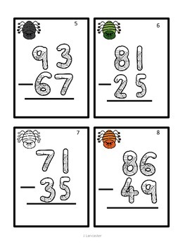 Double Digit Subtraction with Regrouping Scoot