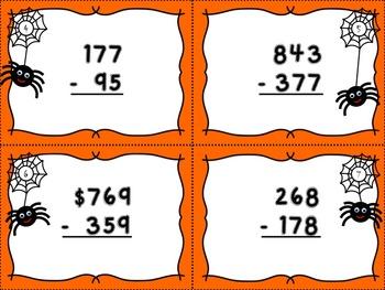 Spider Subtraction - Subtracting Three-Digit Numbers