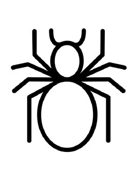 Spider Template Craft Spider Templates Spider Coloring Pages Spider Outlines