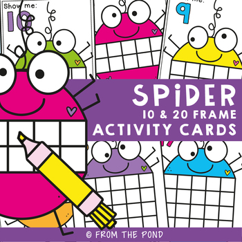 Math Center: Spider Ten Frame Activity Cards
