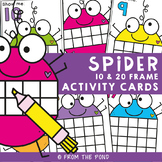Math Center: Spider Ten Frame Activity Cards