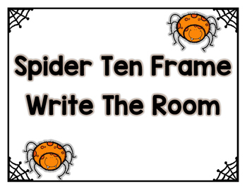 Spider Ten Frame - Write the Room