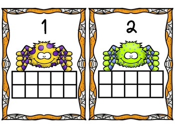 Spider Ten Frames: Counting and Addition Up To 10