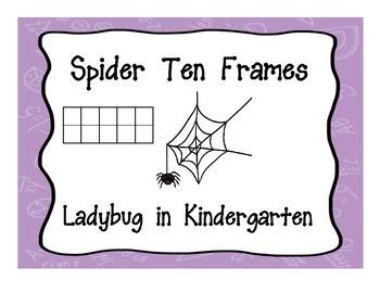 Spider Ten Frames - Freebie