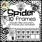 Spider Ten Frames (includes worksheet) Great for Halloween Math Centers!