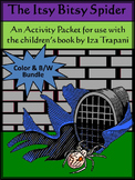 Spiders Activities: The Itsy Bitsy Spider Halloween Activity Bundle - Color & BW