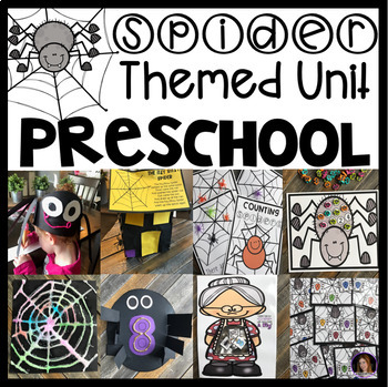 Spider Math and Literacy Centers, Activities and Lessons Plans for Preschool