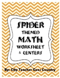 Spider Themed Math (2 centers & 1 worksheet) 3rd-4th