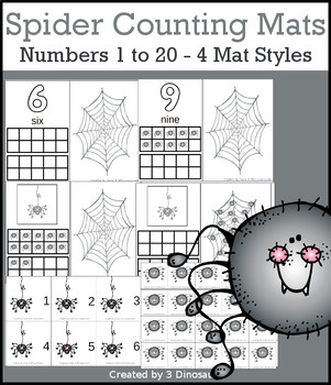 Spider Themed Number Counting Mats