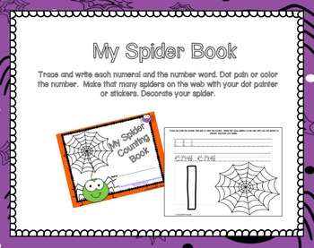 Spider Themed Number Math Centers: Great for Halloween!