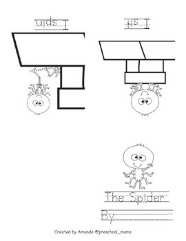 Spider Themed Sight Word Book: I