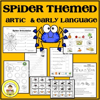 Spider Speech Therapy Themed Pack for Speech and Language Therapy