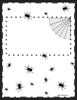 Spider Themed Writing Paper
