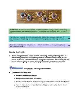 Spider Unit Lesson Plans