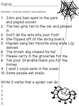 Spider Verbs