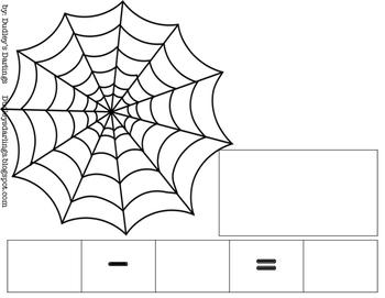 Spider Web Build It, Draw It, Write It Math Mats