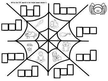 Spider Web CVC Words
