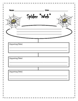 Spider Web Central Idea Organizer
