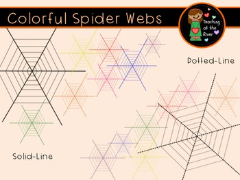 Spider Web Clip Art - Halloween Freebie!