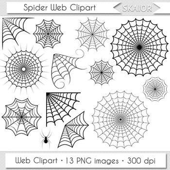 Spider Web Clipart Spiderweb Clip Art Halloween Clipart Spooky Scrapbooking