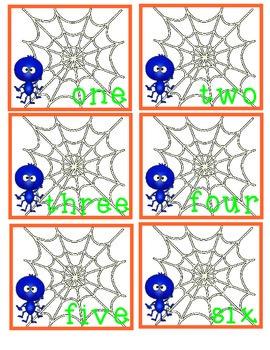 Spider Web Count Math Center