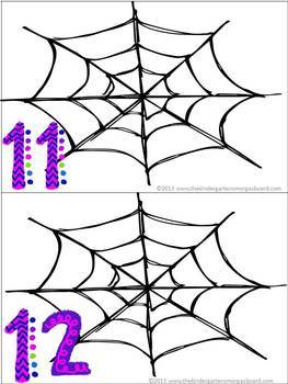 Spider Web Counting Cards!