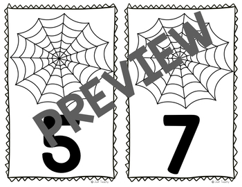Spider Web Counting Cards