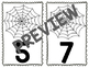 Spider Web Counting Cards - Numbers 0-20