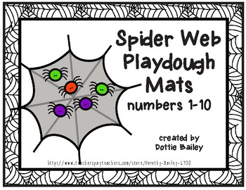 Spider Web Counting Playdough Mats