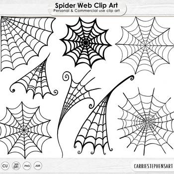 Spider Web Digital Stamps, Halloween