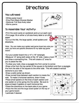 CVC Words - Spider Web Game