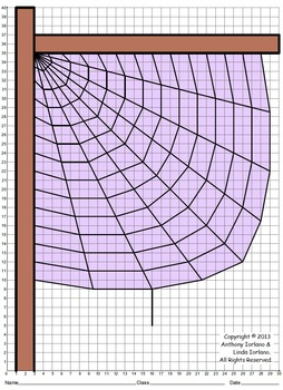 Spider Web (Middle School), Coordinate Graphing & Drawing