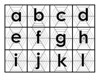 Spider Web - Letters and Sounds